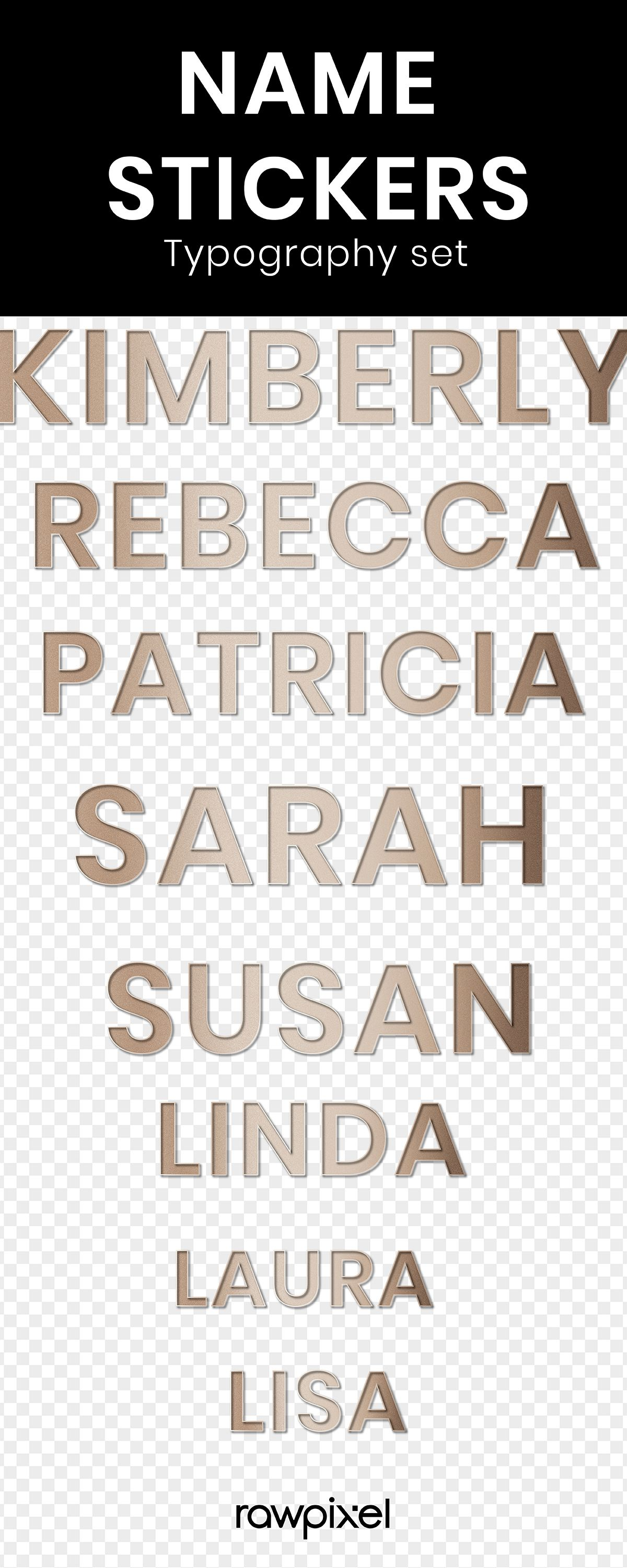 High Definition Classic Gold Name Stickers Typography Font Design Set In 2020 Typography Design Font Fonts Design Typography