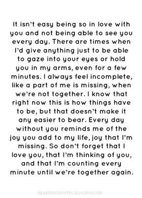 Heartfelt  Love And Life Quotes: 50 Long distance relationship  love quotes.