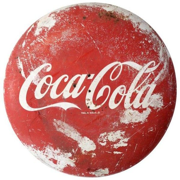 Vintage Coca-Cola Sign ($1,800) ❤ liked on Polyvore featuring home ...