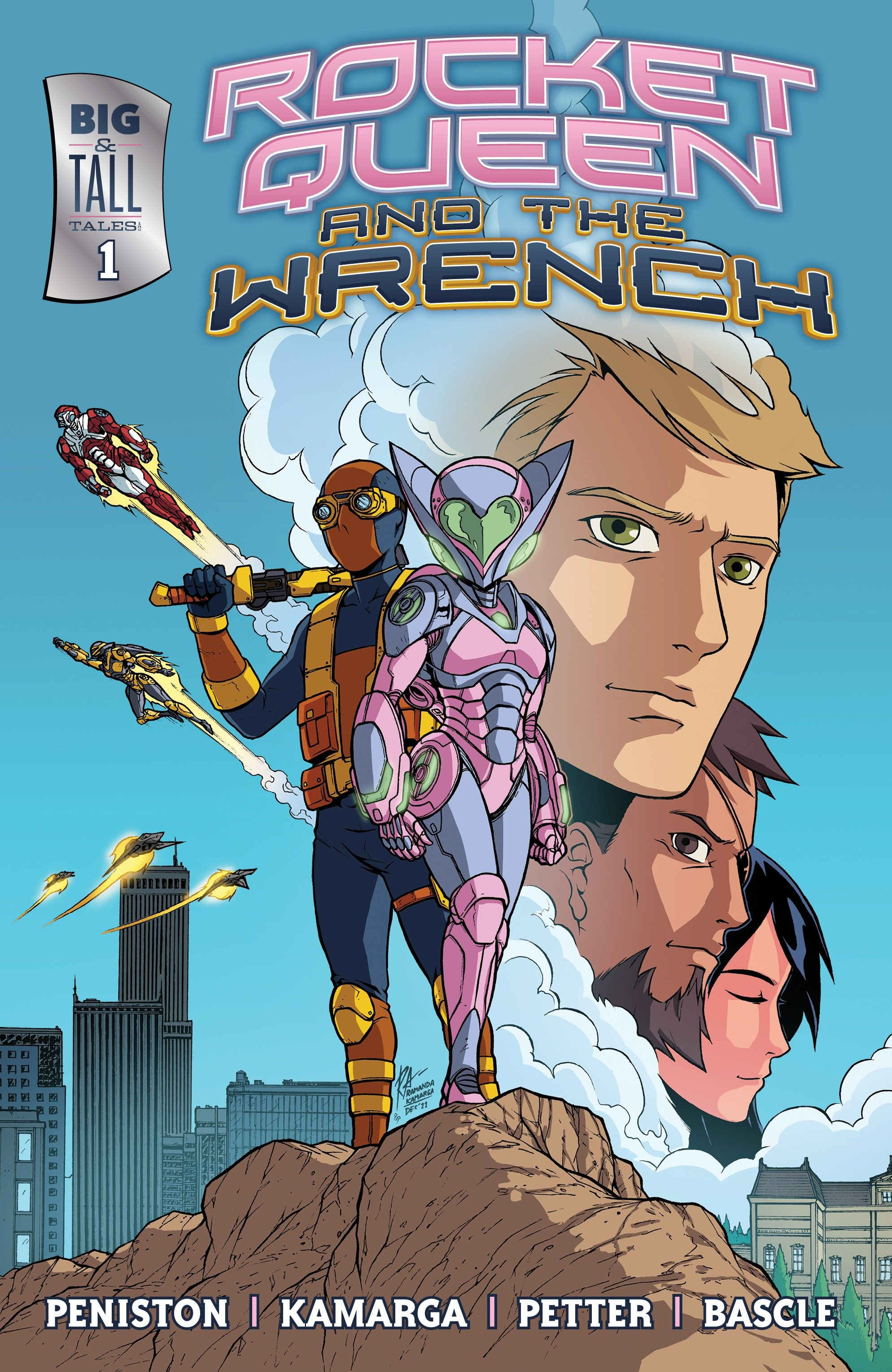Rocket Queen and The Wrench #1 - With art by Ramanda Kamarga, colors by Rainer Petter, and lettering/design by Jacob Bascle. Oh, and written by ME. Lots of fun for $.99!!!