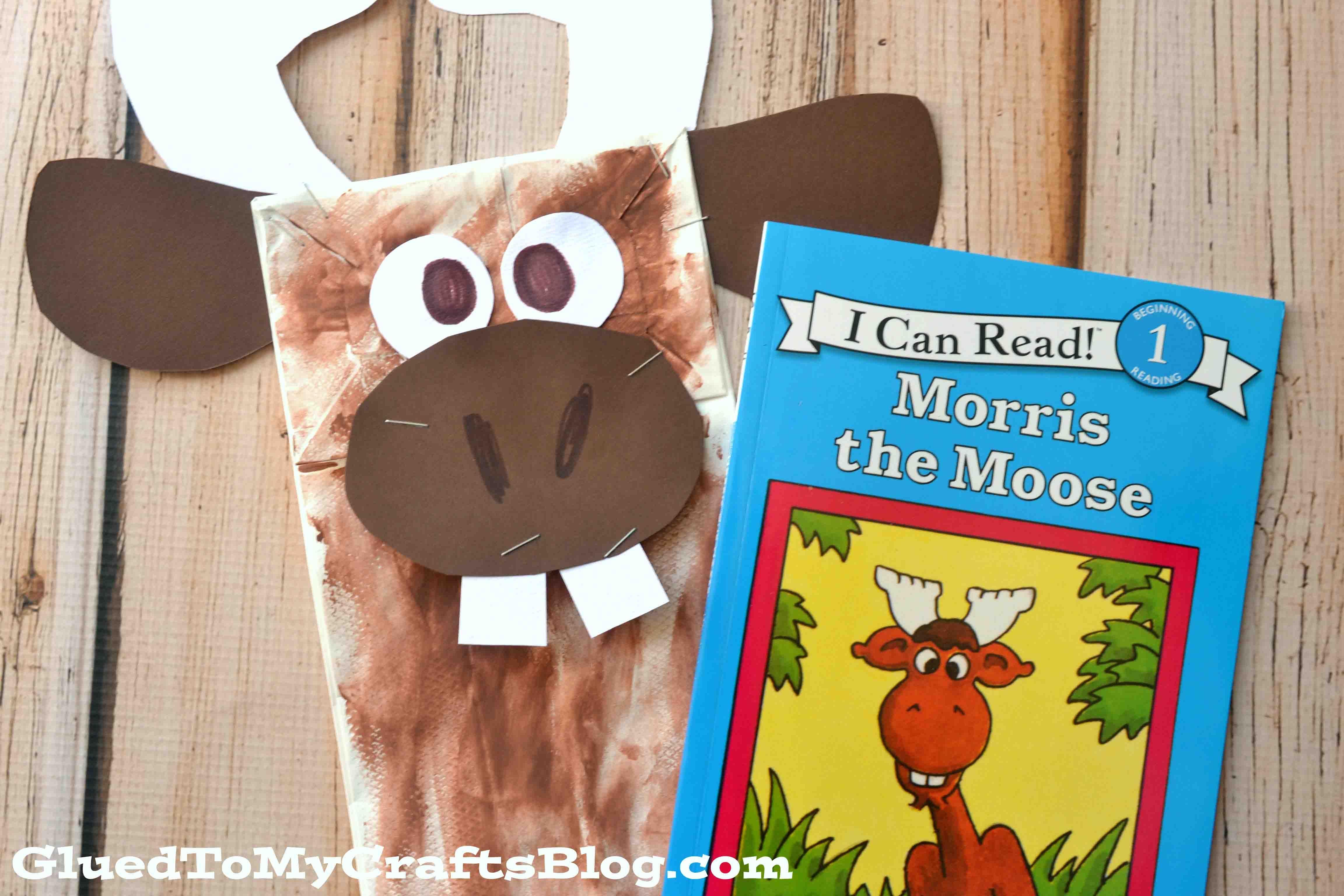 Paper Bag Moose Puppet