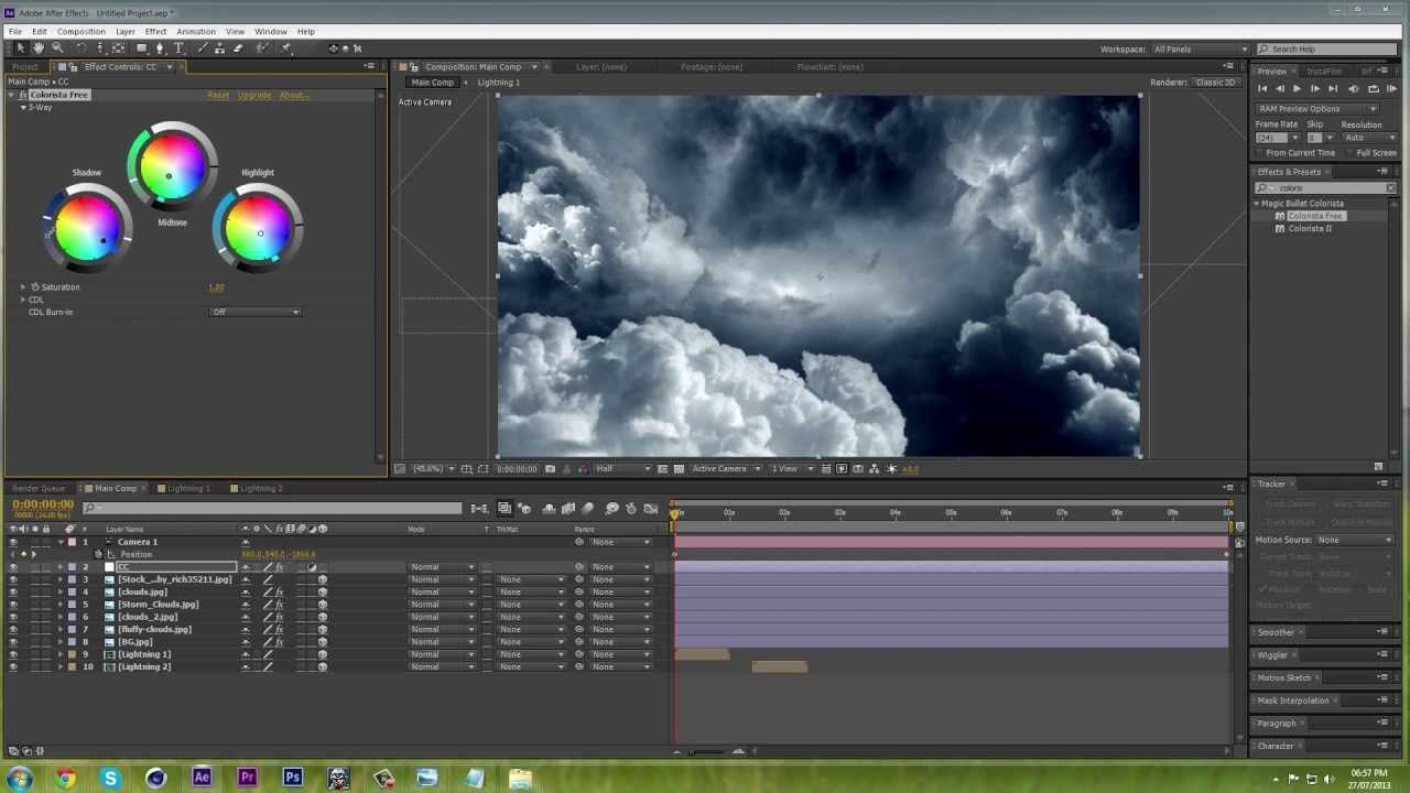 How To Create 3d Clouds  After Effects Cs6 Tutorial · Digital Art Tutorialvideo  Editingmotion