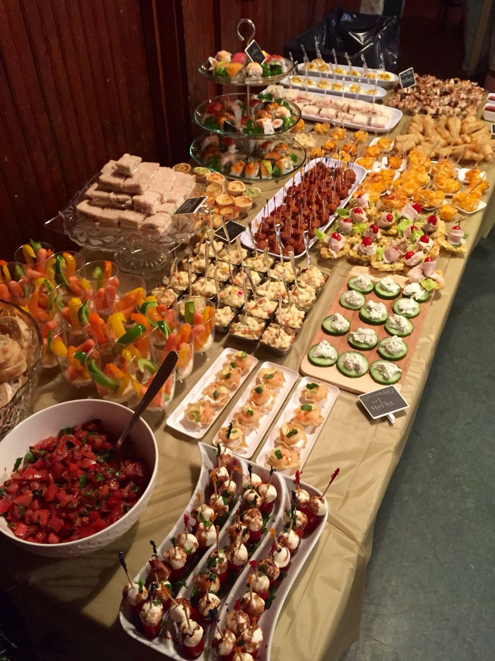 Mini Appetizer Buffet Appetizer Buffet Buffet Food Party Food