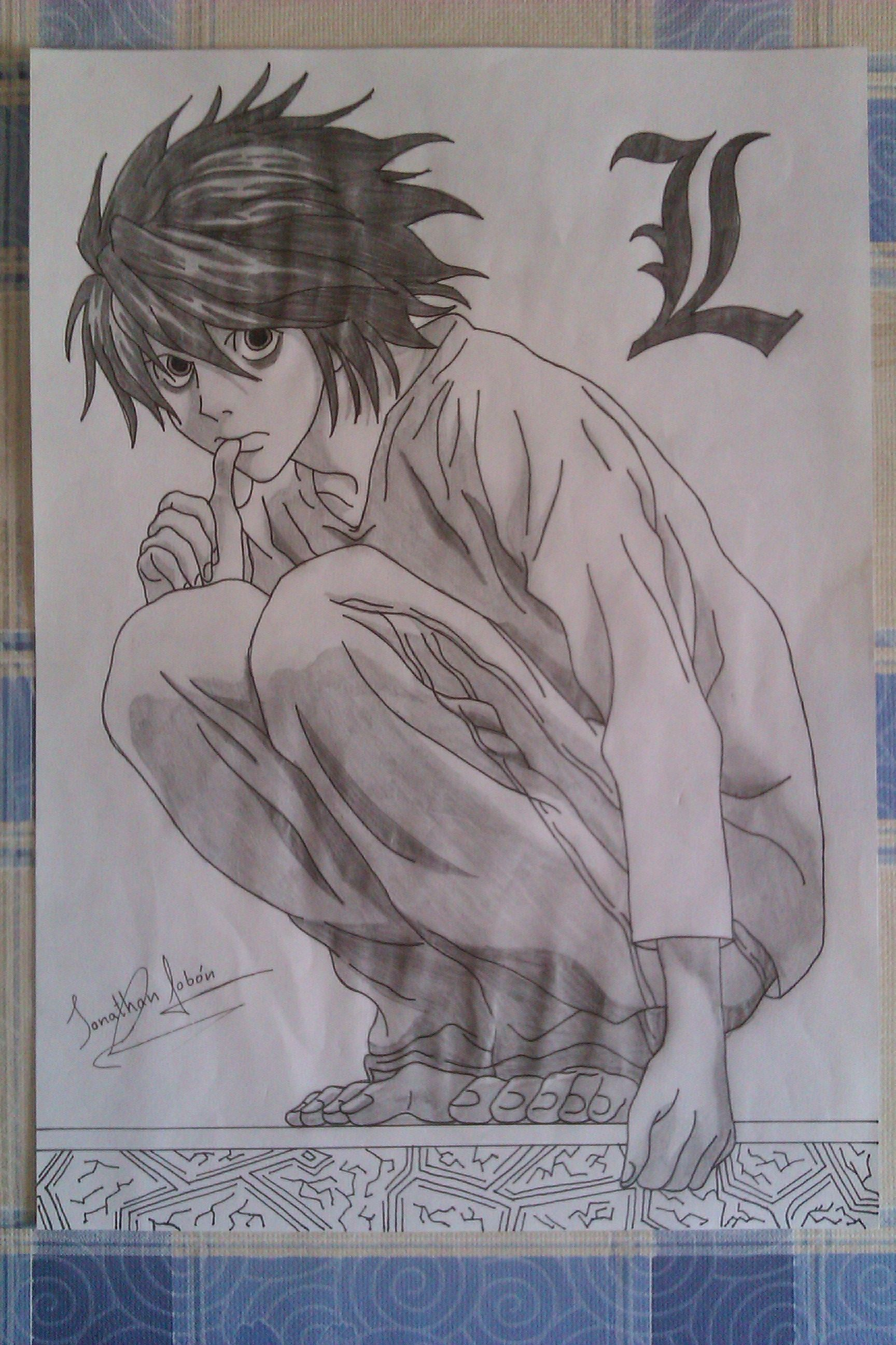 My Drawings Death Note L 1 By Yonato Deviantart Com On
