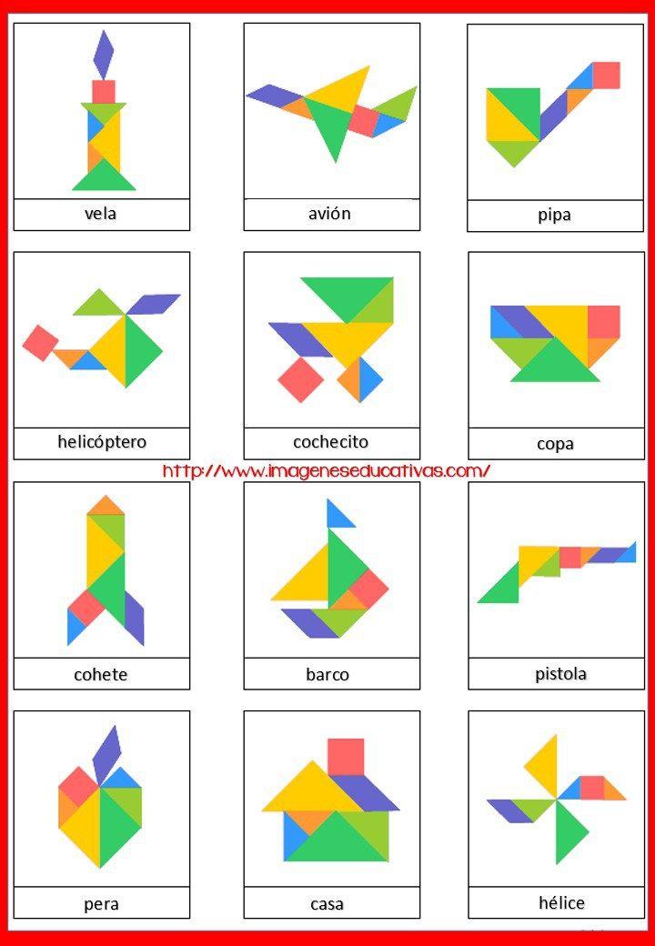 Tangram Figuras para imprimir plantillas incluidas | Percepção ...