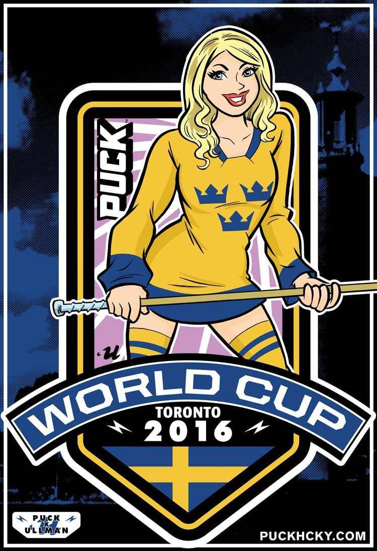 world cup sweden\' hockey poster