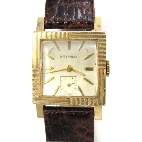 Wittnauer Watch Value >> 1950 S Wittnauer Watch 14k Gold Square Case With Engraved