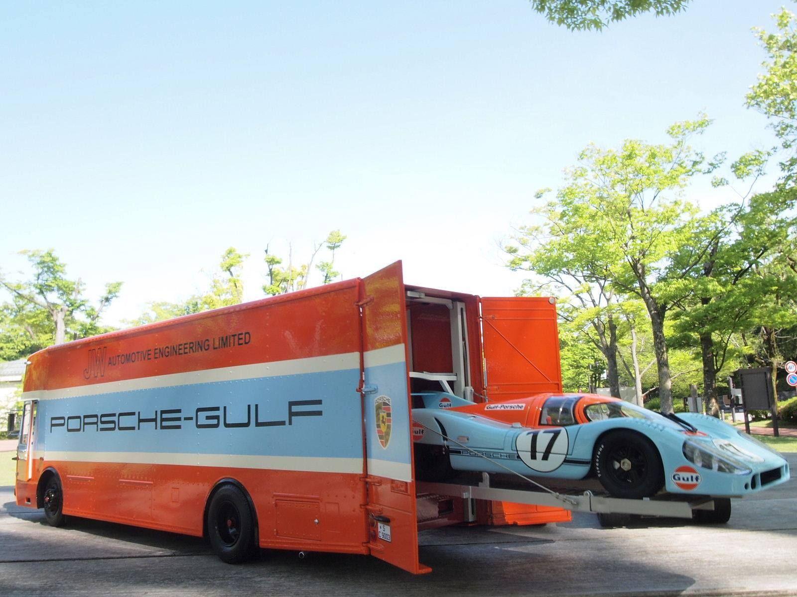Race Car Transporters Gulf Porsche Transporter Gulf Porsche