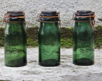 French glass jars | Etsy