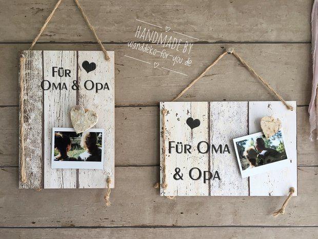 Für Oma  Opa  Herzklammer fürs Foto  Geschenke für Oma und Opa Für Oma  Opa  Herzklammer fürs Foto  Geschenke für Oma und Opa