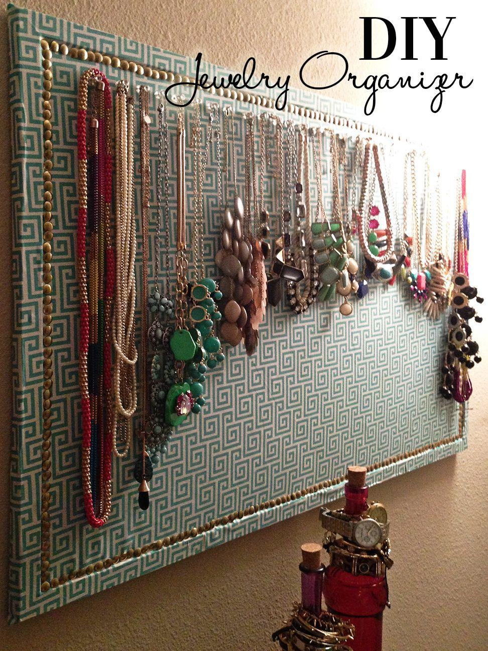 Fabric Covered Corkboard Jewelry Organizer Cort