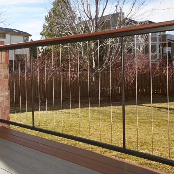 Fortress Vertical Cable Rail Straight Panel Cable Railing Patio Railing Cable Railing Deck