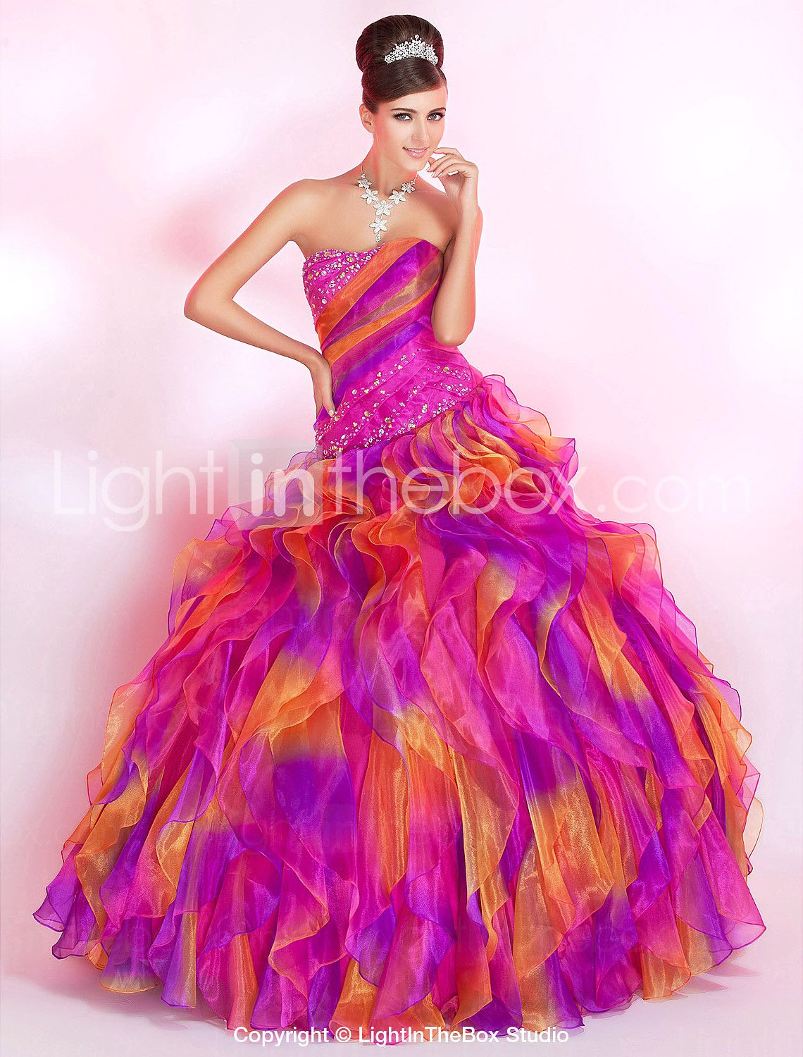 I know I said I didnt a ball gown, but I LOVE the colors! Ball Gown ...