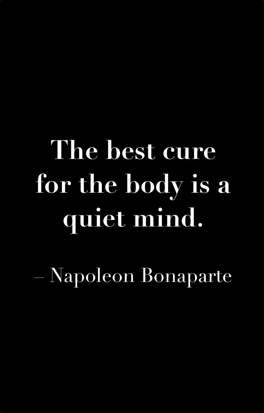 Il miglior rimedio per il corpo é la mente