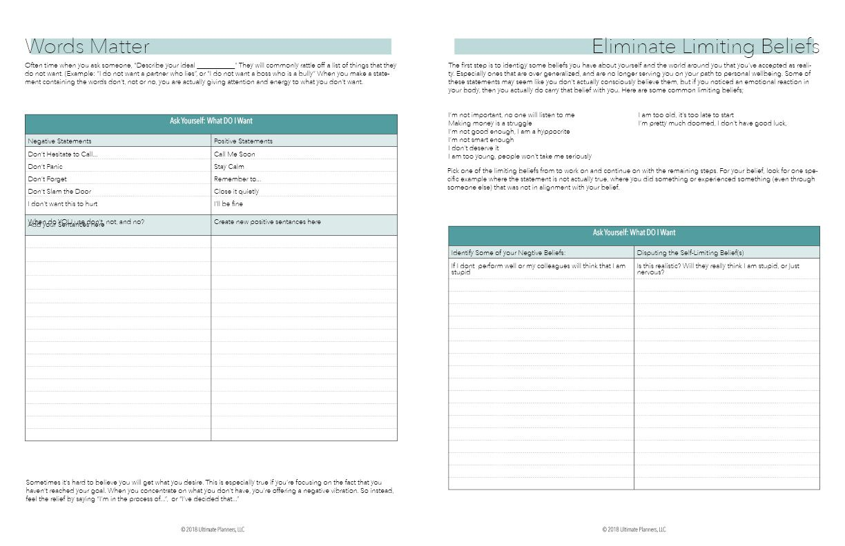 Ultimate Mindset Planner Downloadable