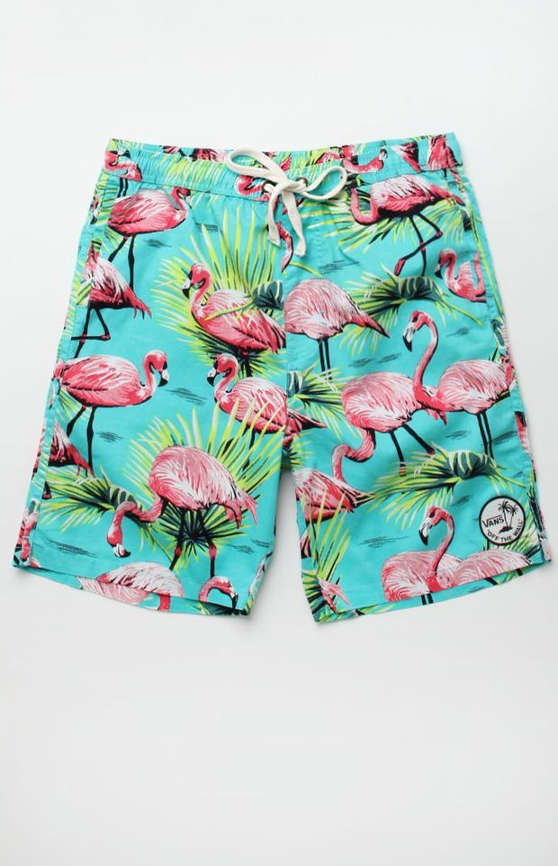 2a6b264695e Vans Flamingo Elastic Waist Shorts - Mens Board Shorts - Purple ...
