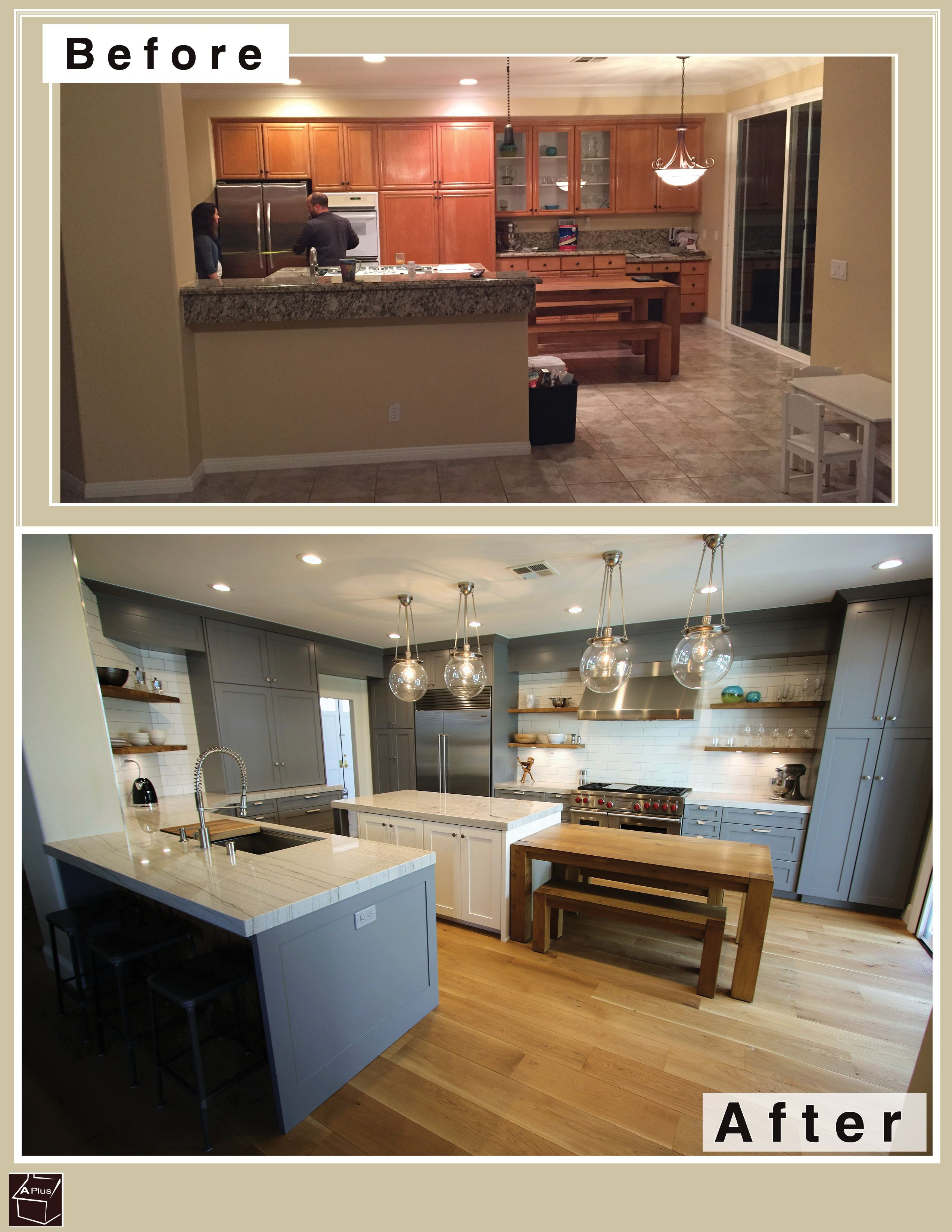 Beau Industrial Style Design Build Kitchen #Remodel With APlus Custom Cabinets  In Rancho Santa Margarita Orange
