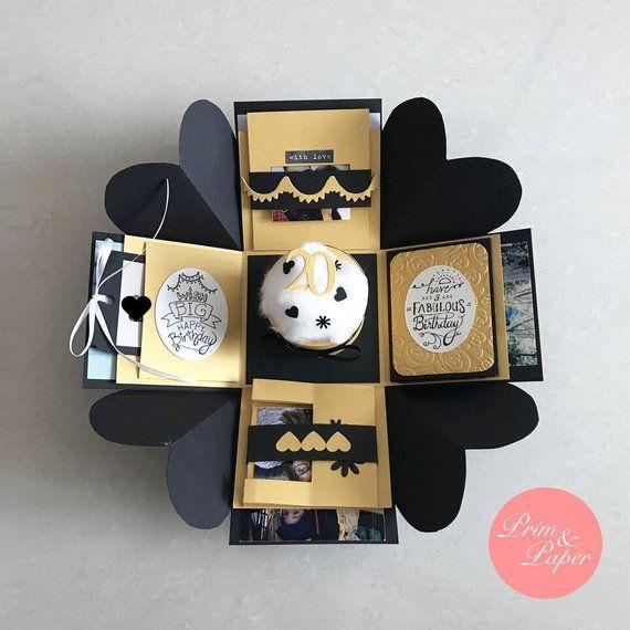 Birthday Explosion Box Exploding Love Card Gift B