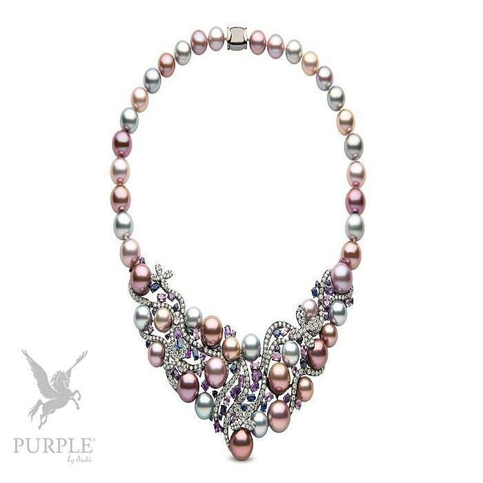 Another perfect addition to your style this 18k black old with 8.45cts diamonds 3.59cts sapphires 4.42cts pink sapphires 3.99cts amethyst & natural colour Tahitian & Radiant Orchid Freshwater pearls 10-13mm by @yokolondonpearls #purplebyanki #diamonds #luxury #loveit #jewelry #jewelrygram #jewelrydesigner #love #jewelrydesign #finejewelry #luxurylifestyle #instagood #follow #instadaily #lovely #me #beautiful #loveofmylife #dubai #dubaifashion #dubailife #mydubai #Freshwater #Tahitian
