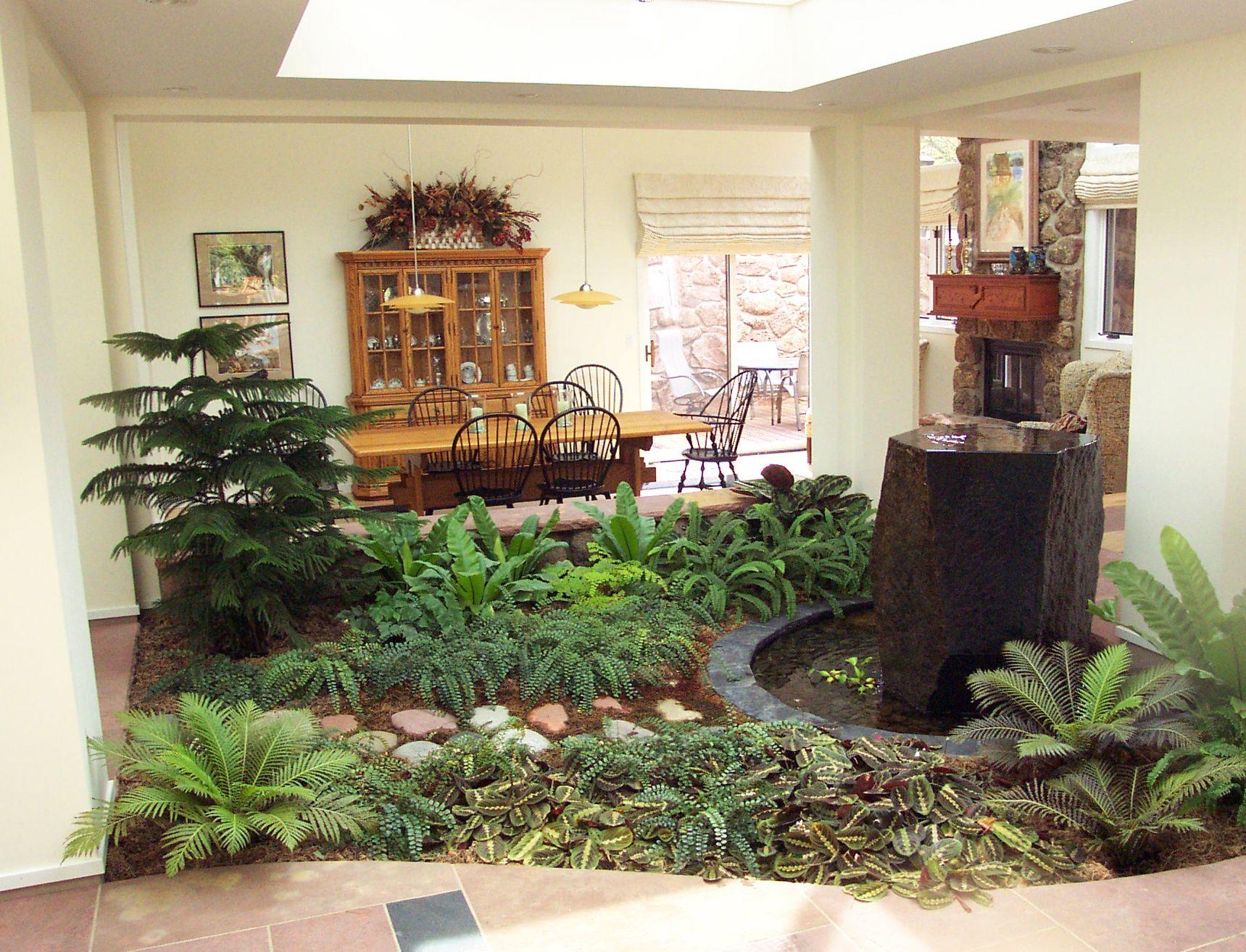 Indoor Atrium | Small garden design, Indoor garden