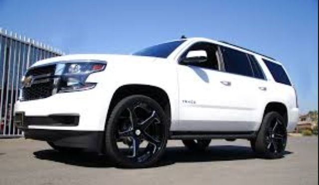 Love White On Black But Not These Rims Mommy Car Chevy Tahoe