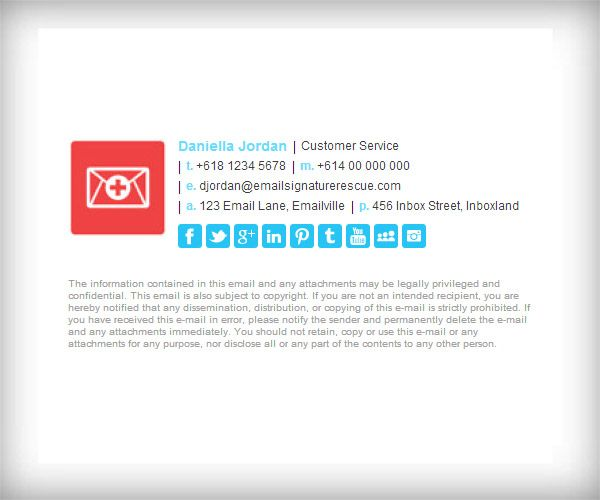 Horizontal Email Signature Template With X Logo  Like This