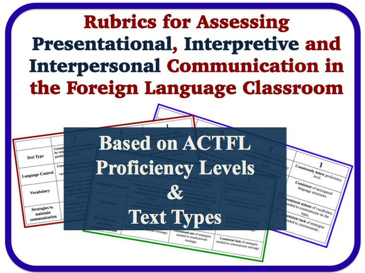Foreign language assessment rubrics presentational