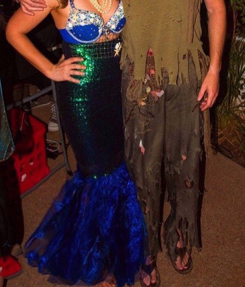 Sexy Mermaid Womens Halloween Costume Fancy Party Sequins Long Dress Tail Skirt