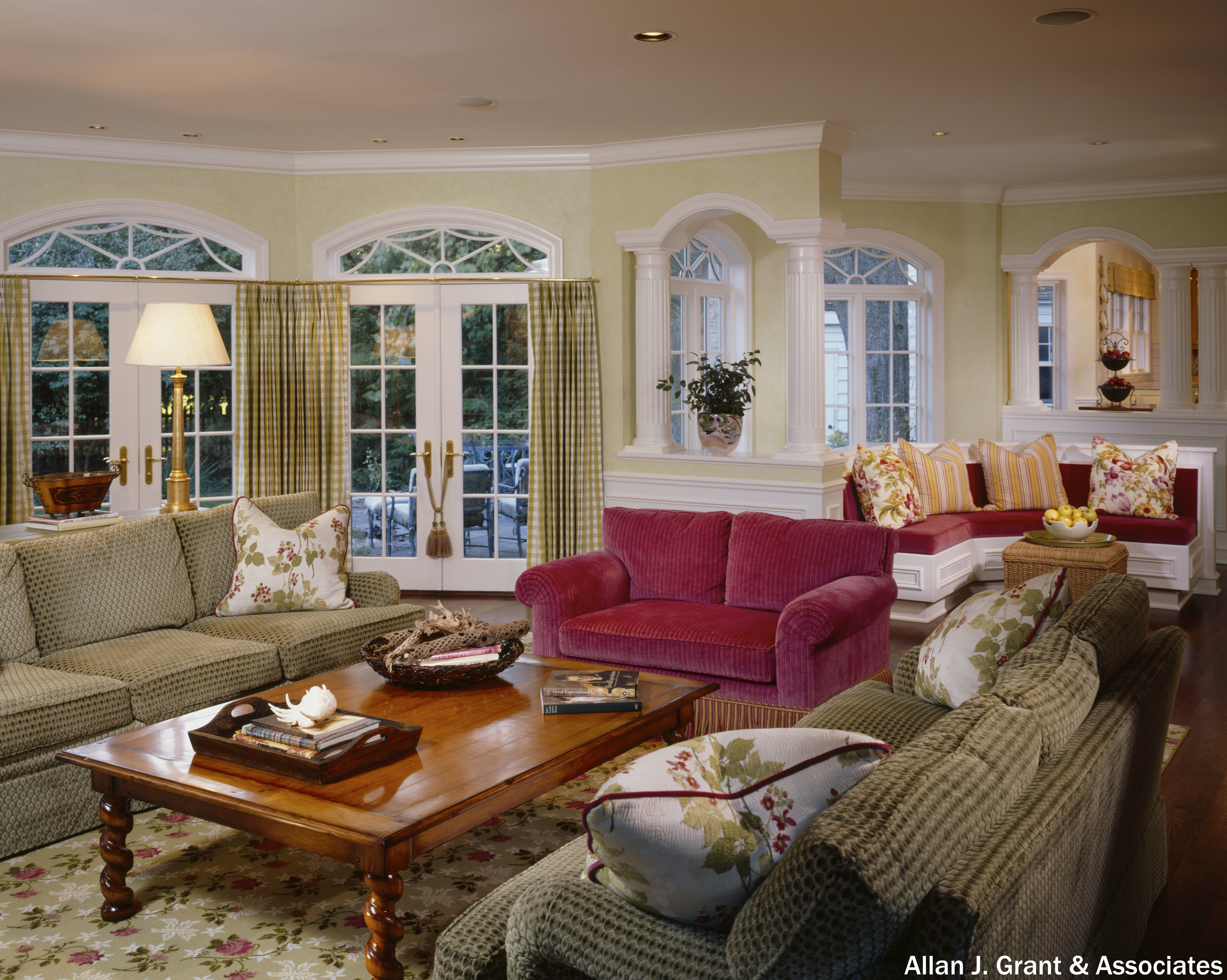 Very Crowded Living Room With A Queen Anne Design Gold Accents Old Style