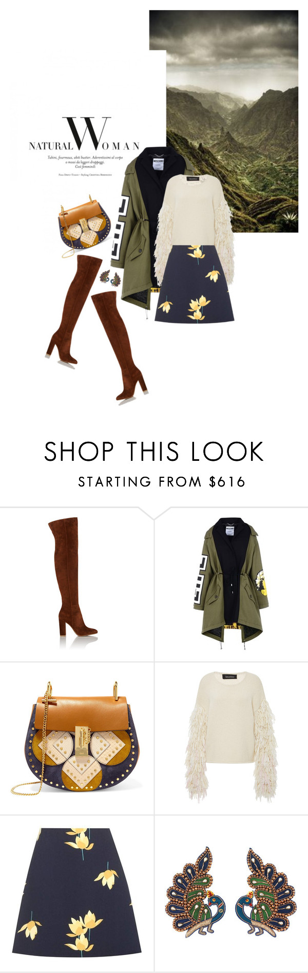 """""""Fall 2016: Trendy and chic"""" by ecletica-and-chic ❤ liked on Polyvore featuring Gianvito Rossi, Moschino, Chloé, Tabula Rasa, Marni and Gucci"""