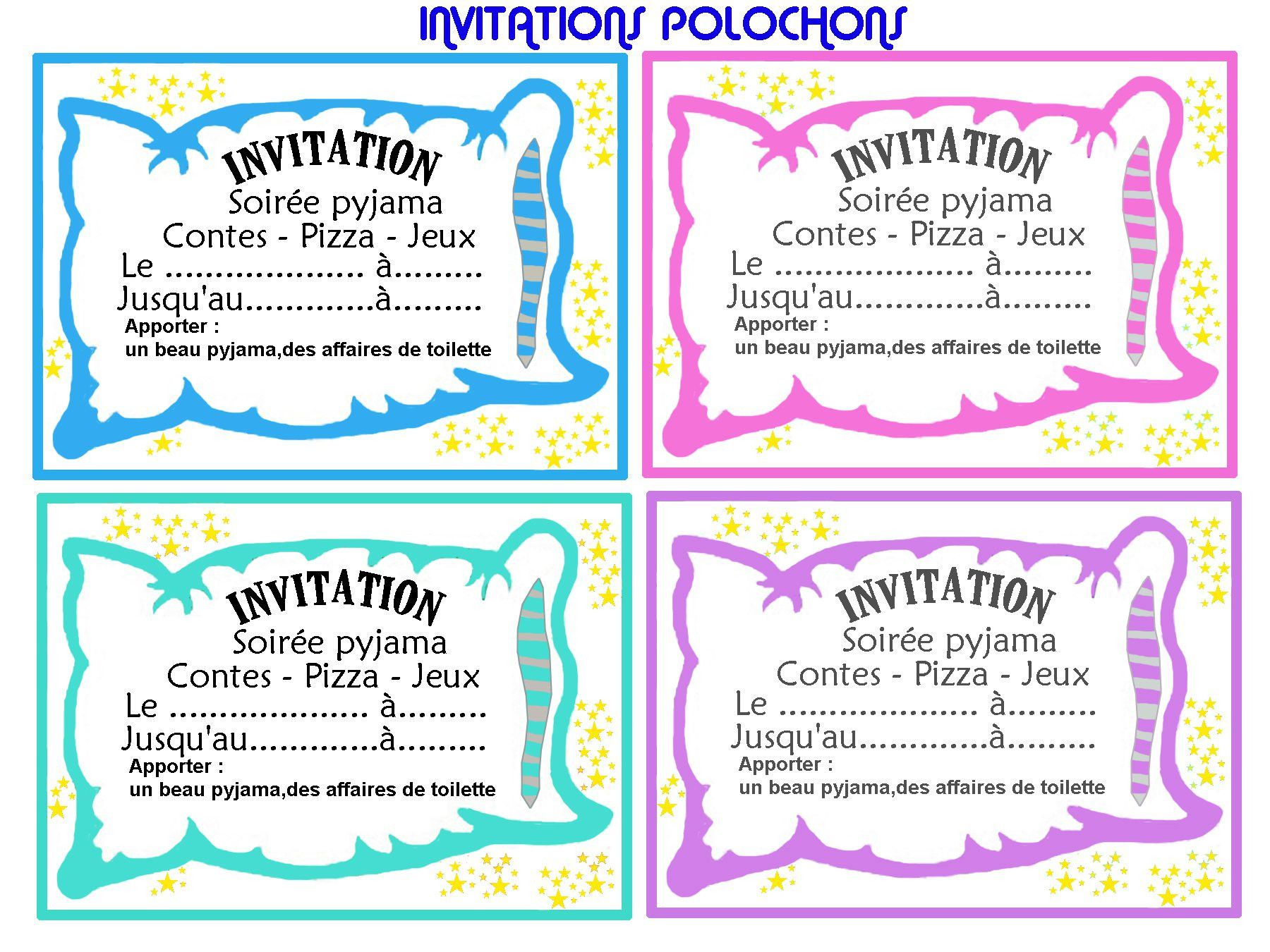 Luxury Carte Invitation Anniversaire Fille 10 Ans Invitations Party Diy Invitations Pajama Party
