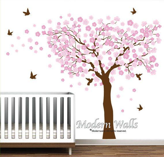 Hey I Found This Really Awesome Etsy Listing At Https Www Etsy Com Uk Listing 266631698 Cherry B Nursery Wall Decals Tree Tree Wall Decal Tree Decal Nursery
