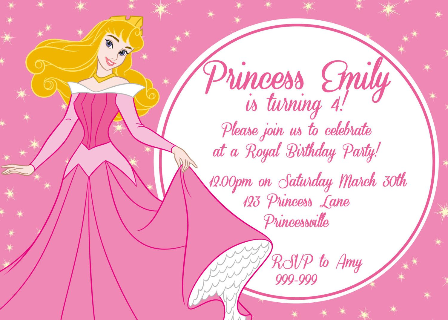 Idea Invitacion 2 Princess Birthday Invitations Disney Prince Party 3rd