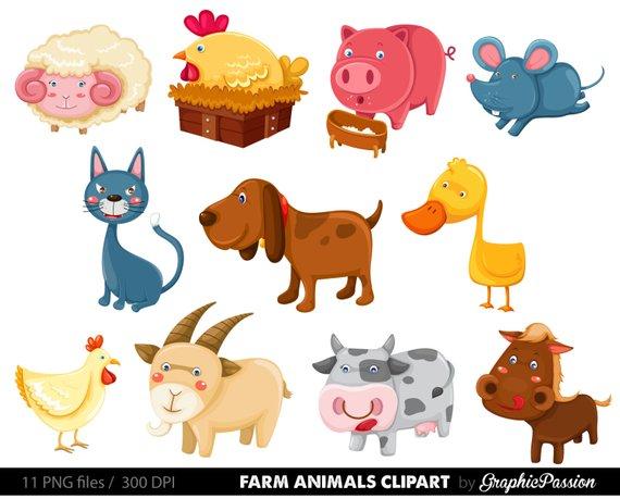 50 Off Farm Animals Clip Art Vectors Farm Animals Clipart Farm Animal Vectors Barn Yard Clipa Animal Clipart Animals Horse Clip Art