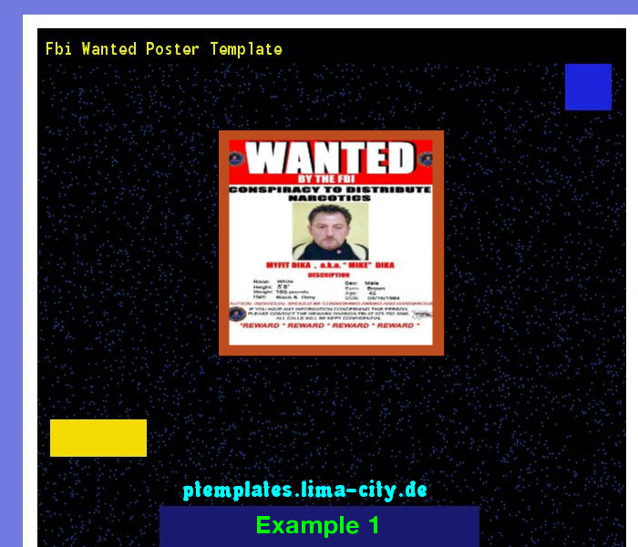Fbi Wanted Poster Template Powerpoint Templates   The Best