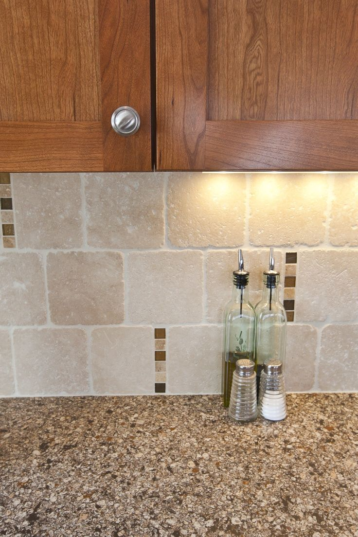 Travertine Backsplash Ideas Part - 30: Cambria Canterbury Backsplash Ideas | ... Space Was Finished With Travertine  Backsplash, Scattered