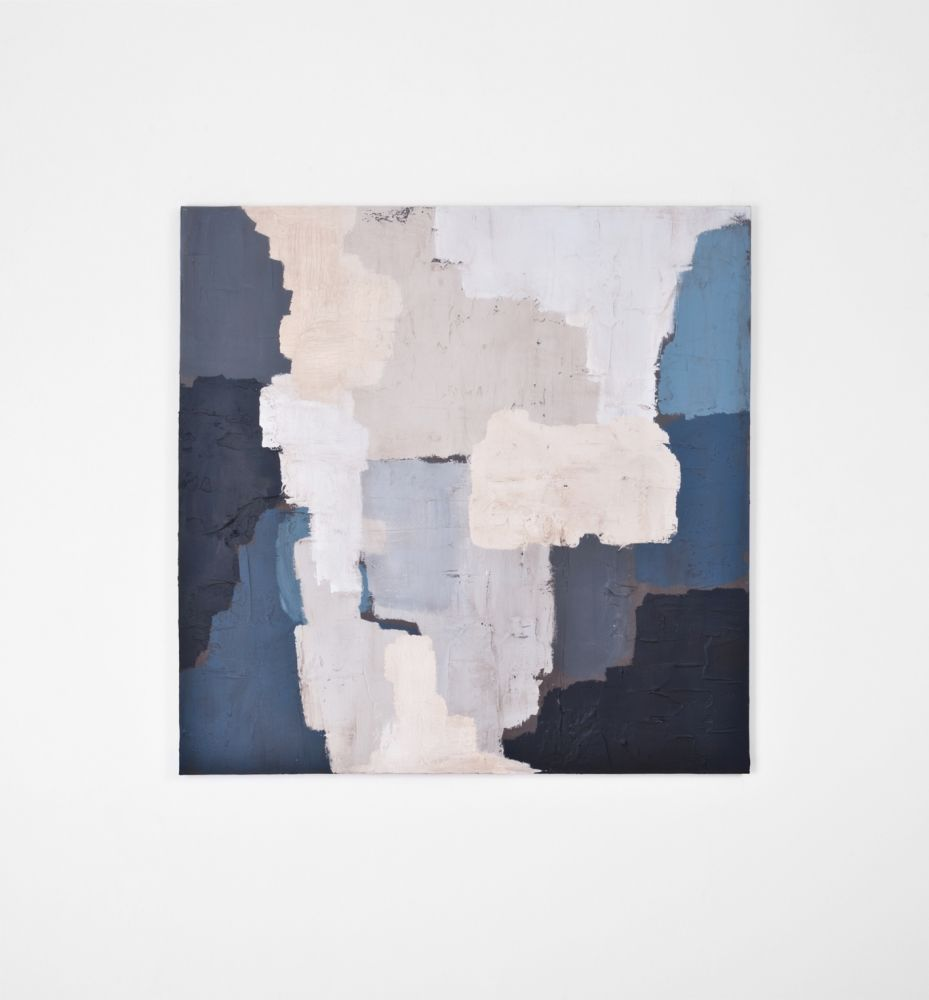 Blue granite abstract painting by australian artist sarah