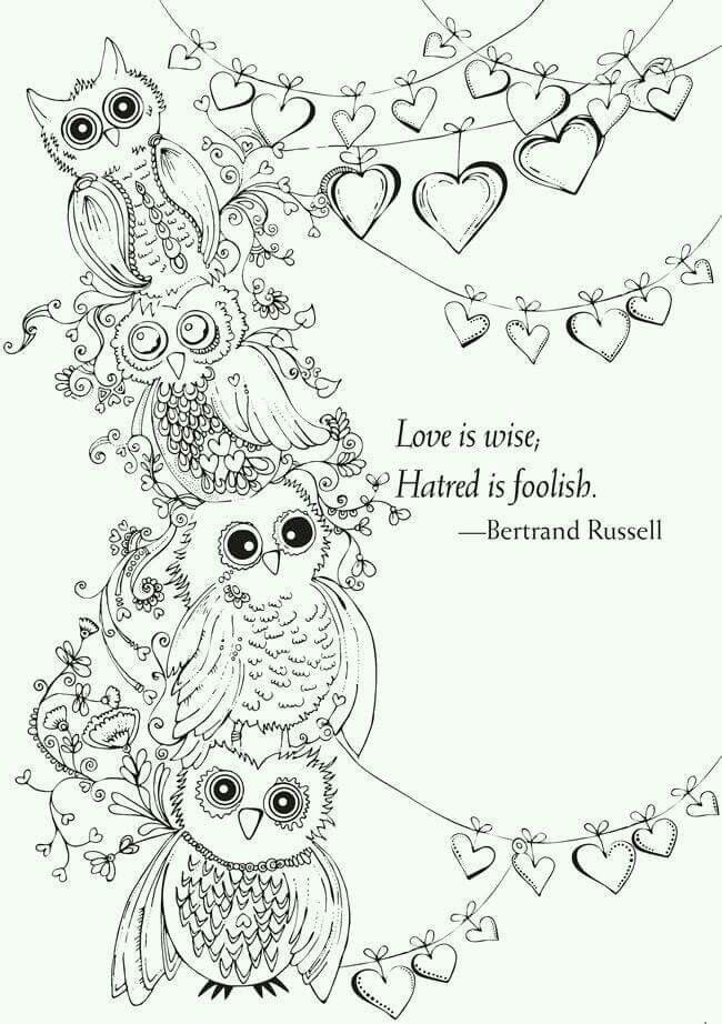 Pin by Gail Brittingham on Owls | Owl coloring pages ...