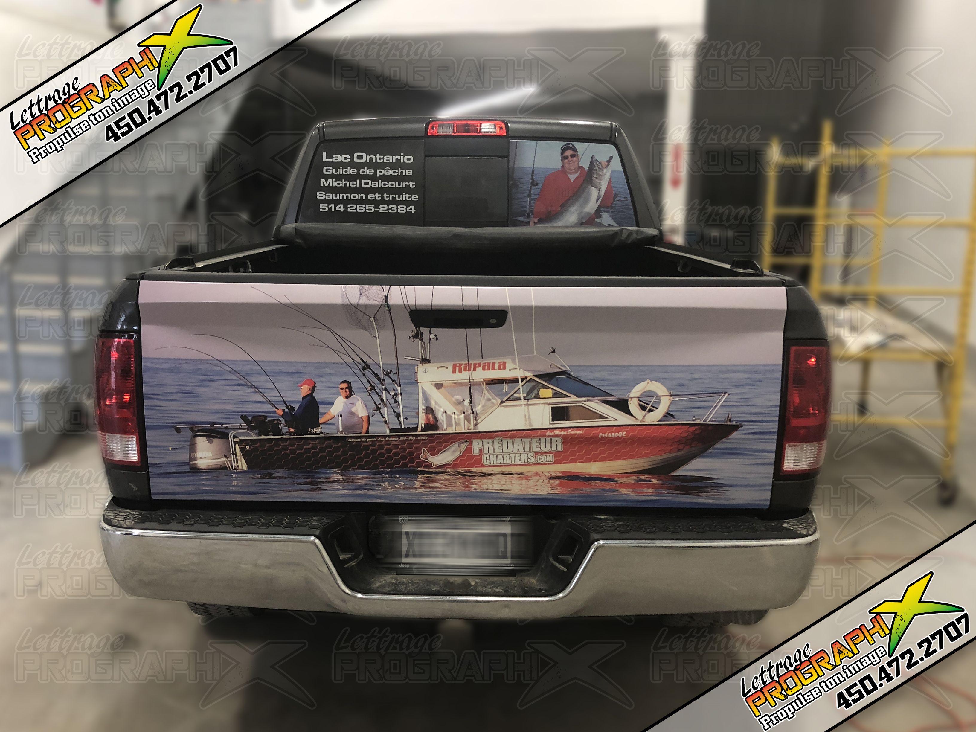 habillage de camion dodge lettrage prographix pickup dodge wrap bateau p che. Black Bedroom Furniture Sets. Home Design Ideas