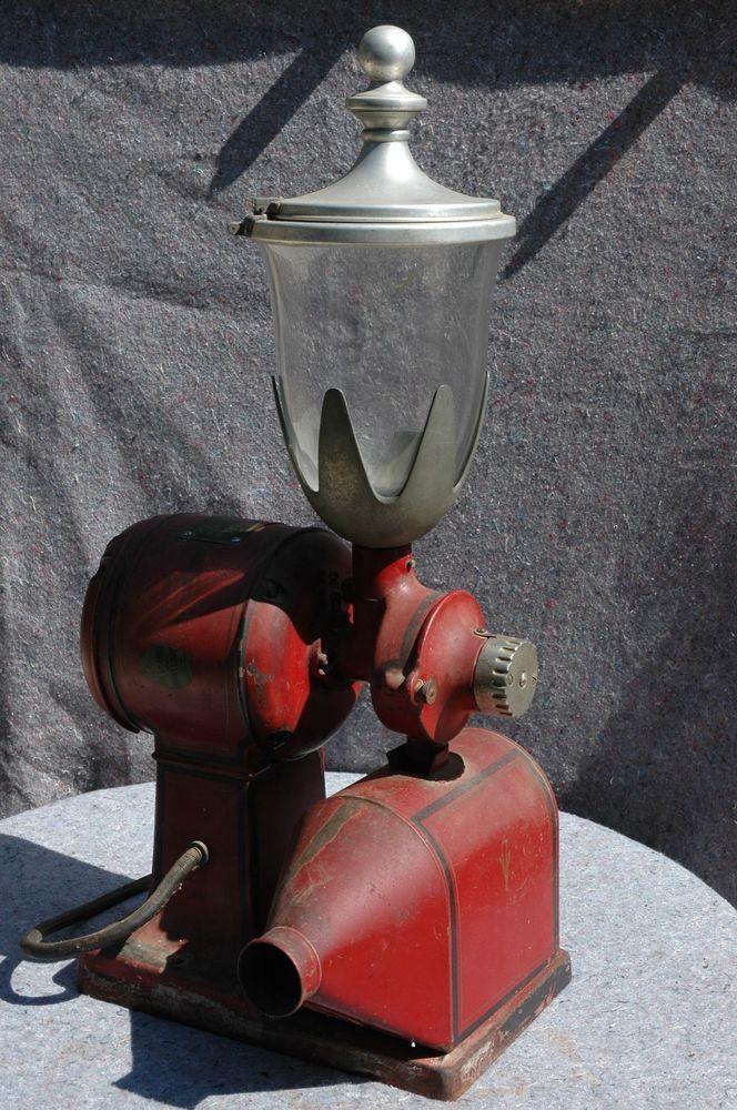 Antique Electric Grinder ~ Antique hobart coffee grinder mill glass bean