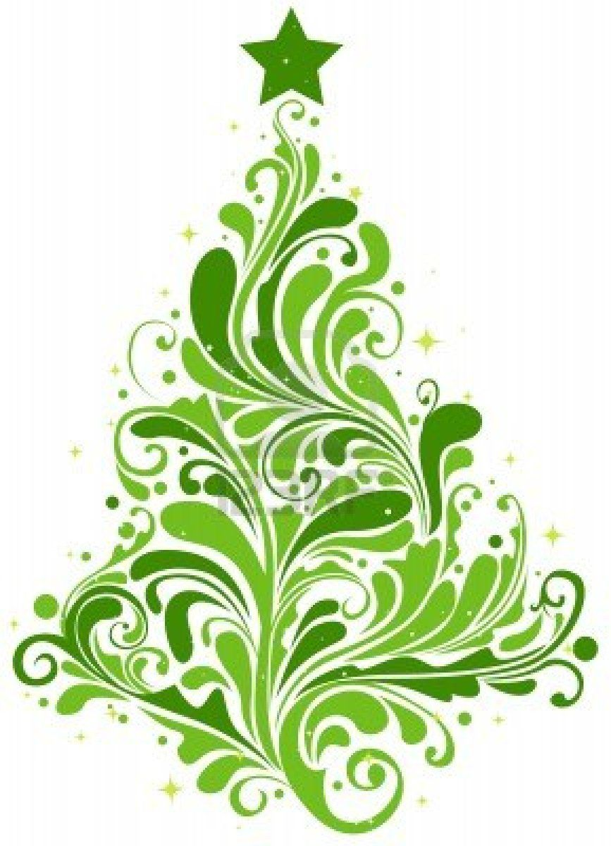 Christmas Tree Design Featuring Abstract Swirls ....Im going to use ...