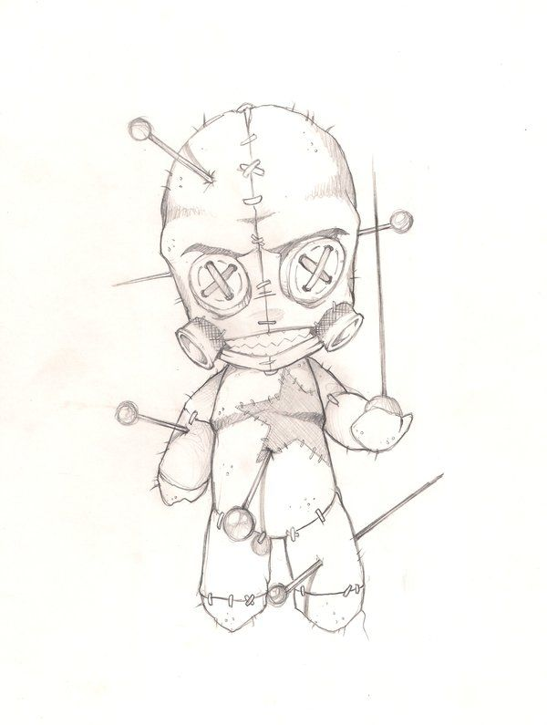 voodoo doll drawings - 600×795
