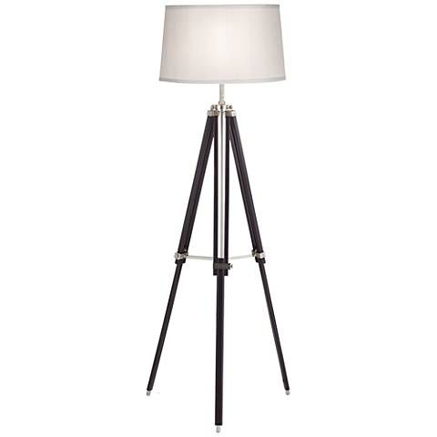 Tripod espresso wood adjustable floor lamp style 1v303 floor tripod espresso wood adjustable floor lamp 1v303 lamps plus aloadofball Gallery