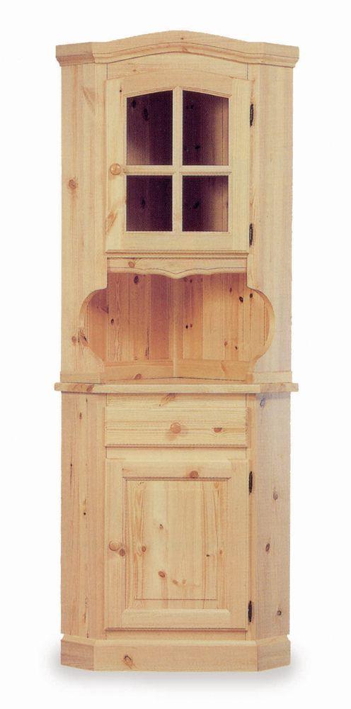 Angoliera rustica in legno massello di pino, ideale per arredare ...