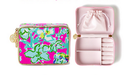 Lilly Pulitzer Travel Jewelry Case travelers dream FREE gift with