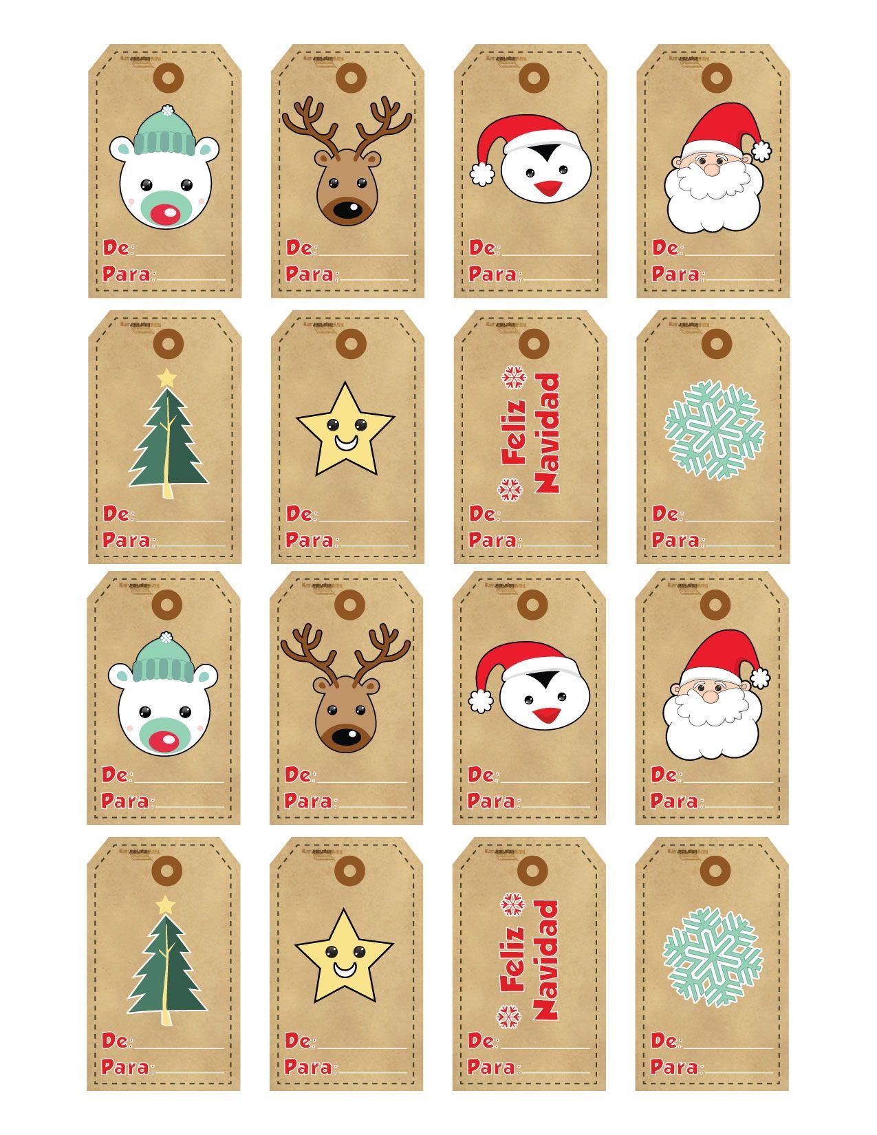 etiquetas de navidad para regalos Buscar con Google