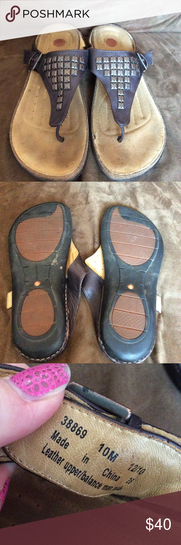 69658f2df244 Clarks Structured Sandals Womens size 10 clarks structured sandals in great  condition very comfy and soft insole cushion bed. Comes from a smoke free  home.