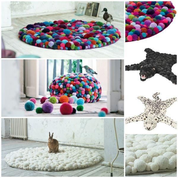 MYK designer teppiche bommel bunte teppiche designer möbel Möbel