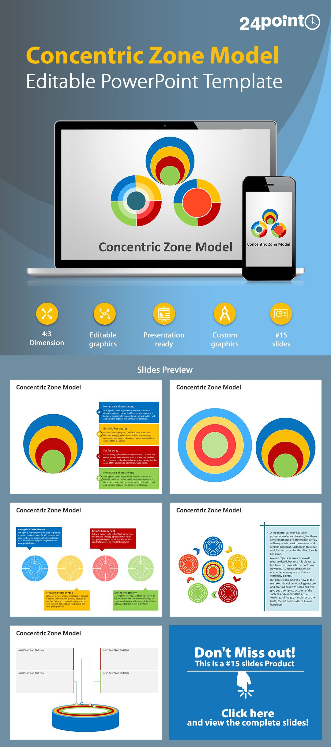 Concentric zone model editable powerpoint template powerpoint concentric zone model editable powerpoint template toneelgroepblik Image collections