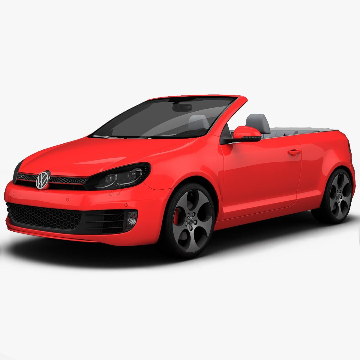 Volkswagen Golf Gti Cabriolet 2013 3d Model Ad Gti Golf